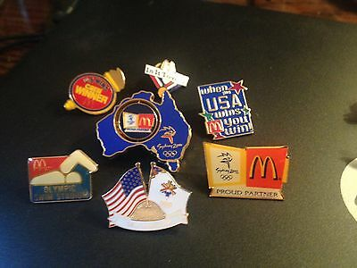 McDonald's Olympic Collector Pins Including Austra