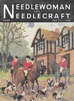 Needlework and needlecraft #48 vintage embroidery magazine c.1951