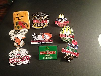 McDonald's Old Monopoly Collector Pins Featuring The Banker