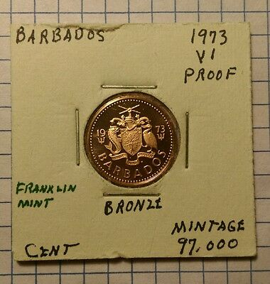 Barbados Cent, 1973 Proof, World Coin