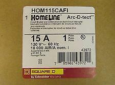 Square D Homeline Hom115Cafi Arc-Fault Combo 15A New In Box