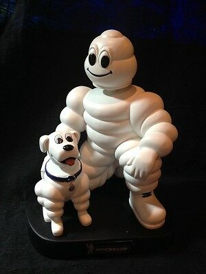 """Michelin Man and his Dog bobblehead, 7"""" Resin figure, Promo Item, Reduced Price"""