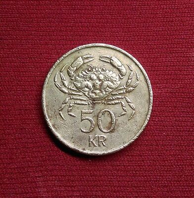 Iceland 50 Kronur, 1987, World Coin