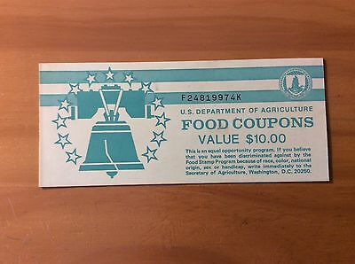 USDA Food Coupon  BOOKET   $10.00  Food Stamp Booklet Cover