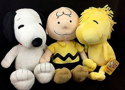 Kohl's Cares Peanuts Gang Lot Of (3) Plush Toys Charlie Brown Snoopy & Woodstock