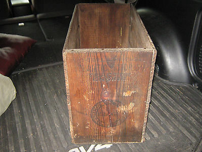 Atlantic Oil Tractor Engine Wood Box