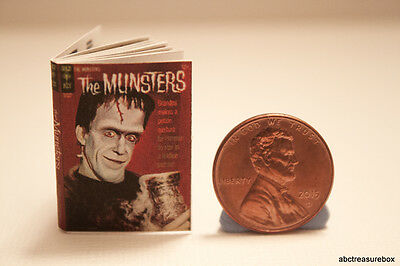 Munsters Comic Book - 1:12 Scale Dollhouse Handmade Miniature Monster Halloween