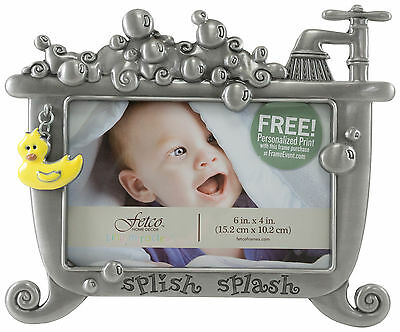 Fetco 6'' x 4'' Splish Splash Bathtime Photo Frame One Size