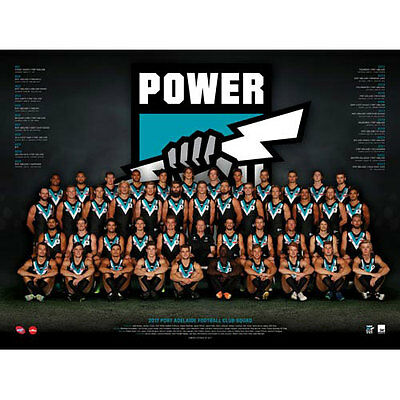 AFL 2017 Team Port Adelaide Power POSTER 60x80cm NEW Aussie Football Players