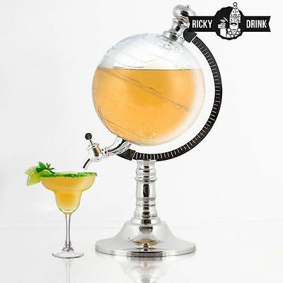 Ricky Drink Globe Drink Dispenser - Beer Cocktails Soft Drinks Home Bar Tap 1.5L