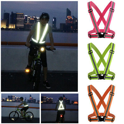 Luminous Sport Vest Harness High Visibility Running Walking Cycling Safety