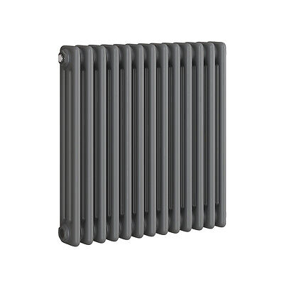 Traditional Cast Iron Style Horizontal Radiator Anthracite 3 Column