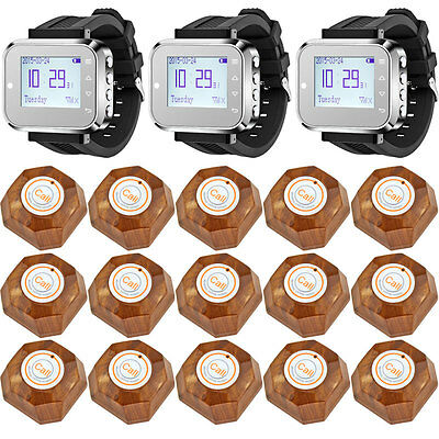 DIY C166 Watch Wireless Calling System Pagers for Restaurant Service Lot