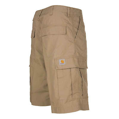 Carhartt WIP Regular Cargo Short leather Columbia Ripstop Bermuda beige