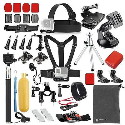 Accessories Kit for GoPro Hero 5/4/3/2/1 Session Hero 40 in 1 Essentials Set New