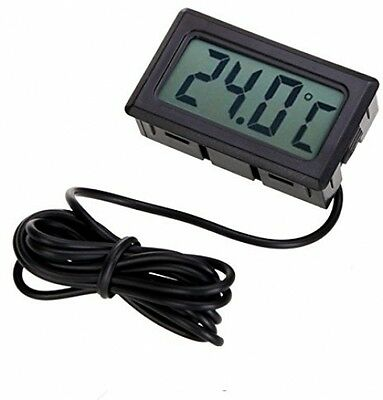 Idealeben Thermometer Embedded LCD Digital Monitor With 2M Temperature Probe