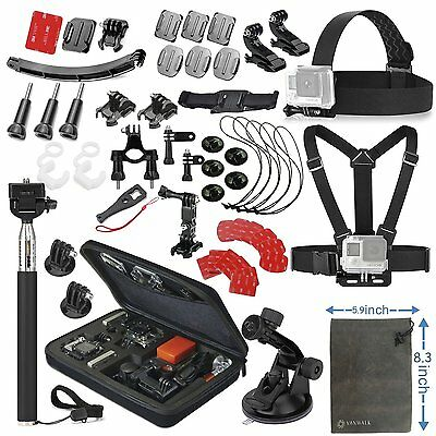 24 in 1 Essentials Accessories Kit for GoPro Hero 5/4/3/2/1 Session Hero Spares
