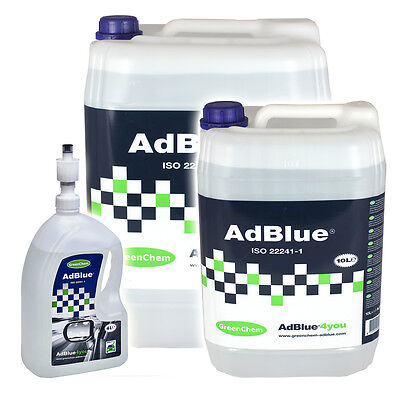Greenchem AdBlue for Ford Diesel Cars from 4L - 1000L