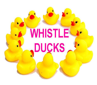 24 WHOLESALE BABY YELLOW MINI BATH TIME RUBBER DUCK WATER PLAY PARTY Ducks fun