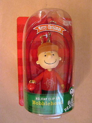 Peanuts Charlie Brown Holiday Clip On, Merry Christmas Ornament New