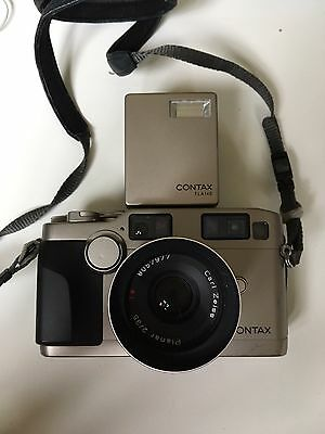 Contax G2 35mm Rangefinder Film Camera Body Only With 2/35 Zeiss Lens And Flash!