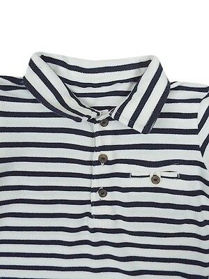 Baby Boys Toddler Ex M&s Autograph Short Sleeve Striped Polo Shirt