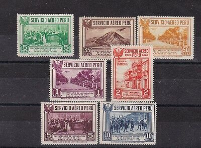 1935 Sc C6/12,set MNH,cent of founding of lima       h792