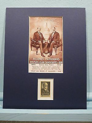 Charles Evans Hughes & Woodrow Wilson Presidential Election of 1916 & his stamp