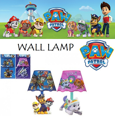 Official PAW PATROL WALL LAMP Kids Bedroom Light Shade Decor Birthday LED LAMP