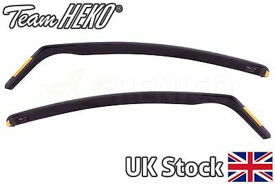 Ford Fiesta mk7 5door hatchback 2008-2017 front wind deflectors 2pc HEKO TINTED