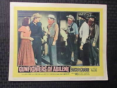 "1959 GUNFIGHTERS OF ABILENE Original 14x11"" Lobby Card #3 VG 4.0 Buster Crabbe"