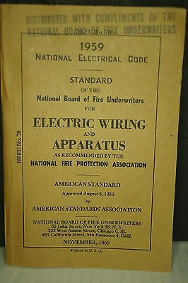 National Electrical Code 1959 Vintage Electric Wiring and Apparatus.