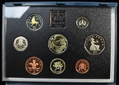 1995 United Kingdom Deluxe Proof Set in Original Leather Presentation Case.