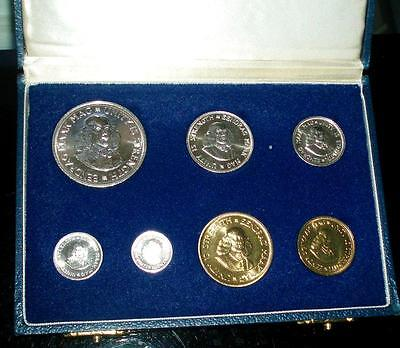 1964 South Africa SILVER Proof Set in Original Presentation Case. Beautiful Set.