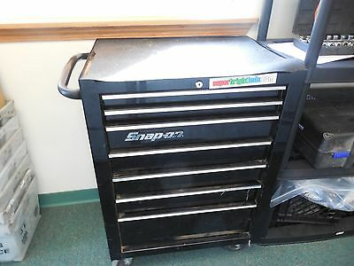 SNAP ON High Gloss Black Tool Rolling Cabinet 7 Drawer KRA2007FPC