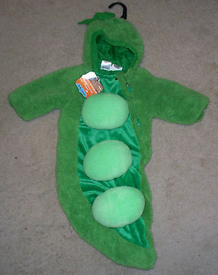Infant Baby Costume Pea in a Pod Peapod 0-6 Months