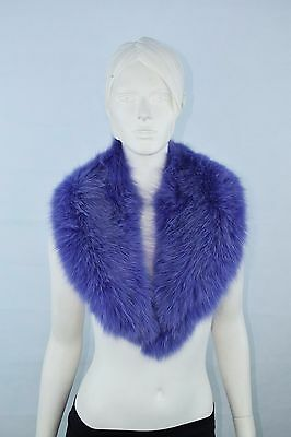 Luxury Fur Fox women's Purple Fox collar for coats or jackets scarf Scarves