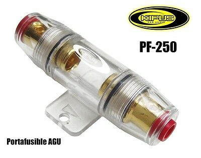 Portafusible Universal AGU Para Cable De Hasta 21 mm. - KIPUS PF-250 - CAR AUDIO