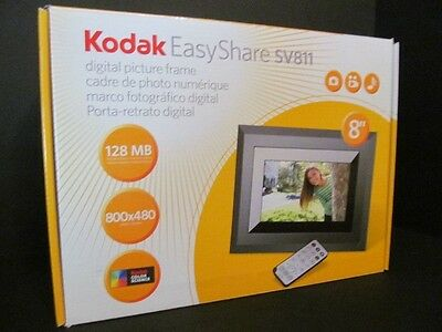 """Kodak EasyShare SV811 8"""" Digital Picture Frame with Remote (New)"""