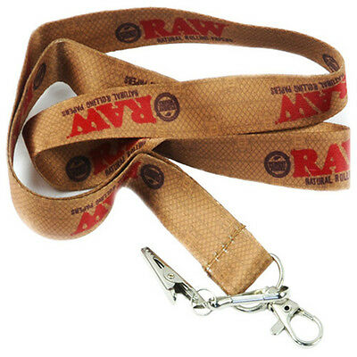 RAW Rolling Papers Lanyard Key-Chain with Alligator Clip RAWthentic
