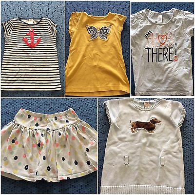 Gymboree Girl's Size 7/8 Spring Summer LOT Short Sleeve Shirts, Skirt