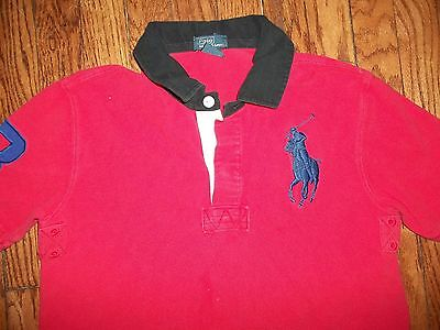 BOYS RALPH LAUREN POLO Big Pony Button Short Sleeve Red SIZE M(14-16)