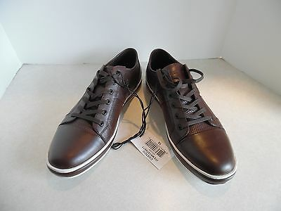 Mens Kenneth Cole Leather Lace Up Sneakers/ Shoes Brown (New Size 10)