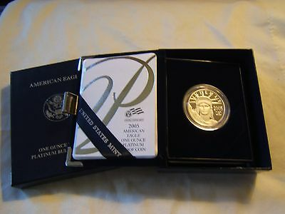 2005 W $100 1 oz proof Platinum Eagle with US Mint packaging - key date