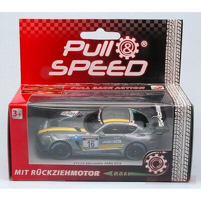 Carrera Car17174 Mercedes Amg Gt3 Pull Speed 1:43 Modellino  Model