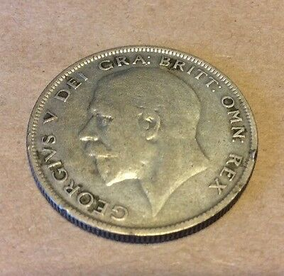 1929 Great Britain .500 Silver 1/2 Crown Coin