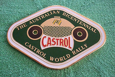 Grille / Car Badge - The Australian Bicentennial Castrol World Rally - 1988