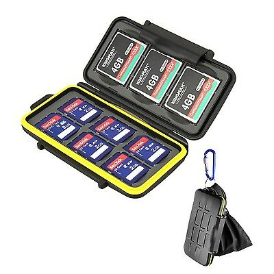 Beeway Memory Card Case Holder for SD SDHC SDXC Compact Flash CF Cards - Wate...