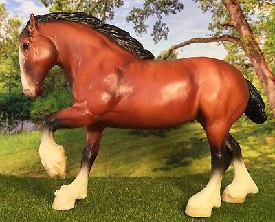 Breyer #1604 Paddock Pals Little Bits Blood Bay Clydesdale Retired 2003
