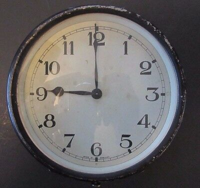 Unusual England 1944 Ship or Submarine Galley Style Clock for Repair